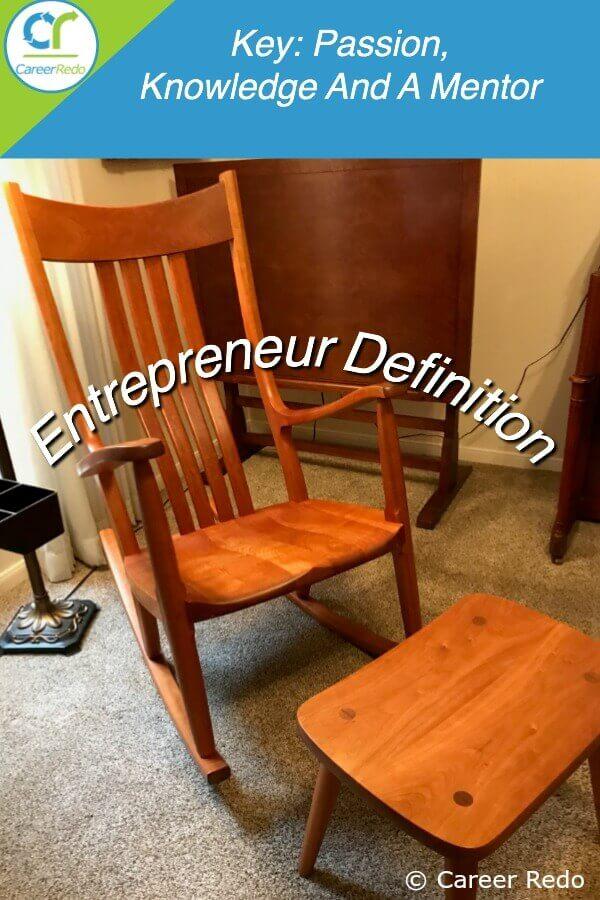 The entrepreneur definition includes hard work