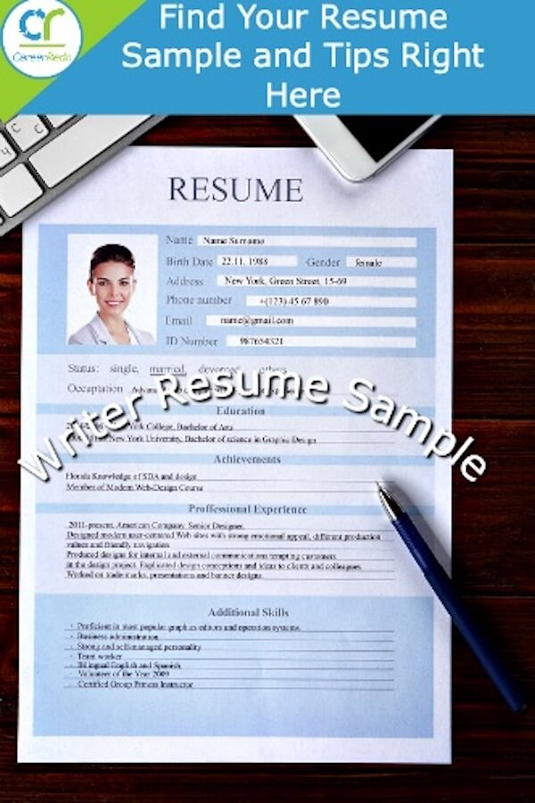 Want A Writer Resume Sample Get That And Tips To Guide You