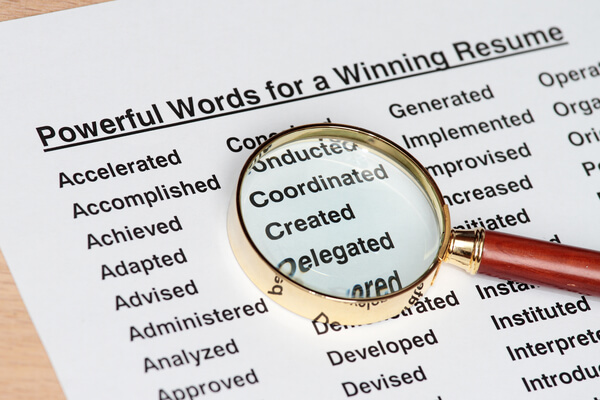 Use the right keywords in your resume